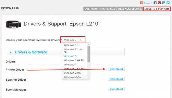 Free Download Driver Printer Epson L210 for Mac & Windows (2)