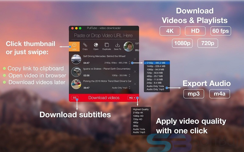 Free Download PullTube for Mac Direct