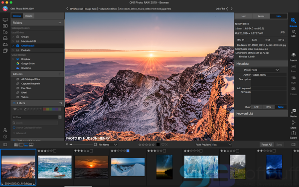 Free Download ON1 Photo RAW 2019 for Mac Direct