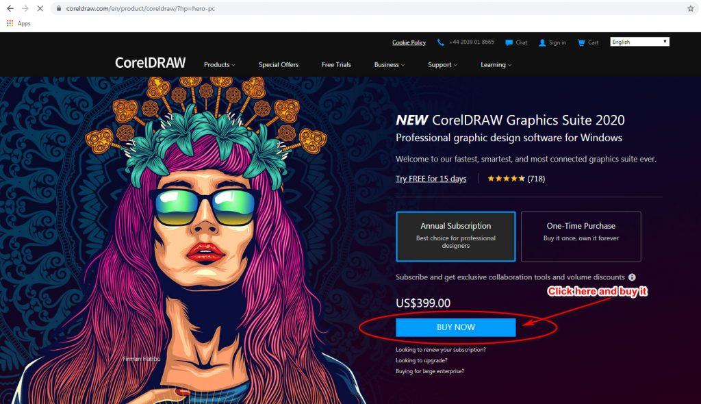 CorelDRAW 2020 Buy Now