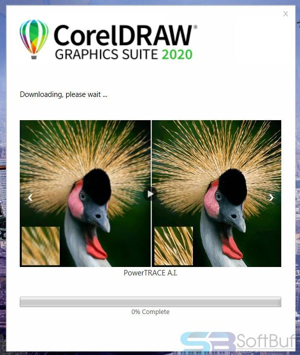 CorelDRAW 2020 downloading