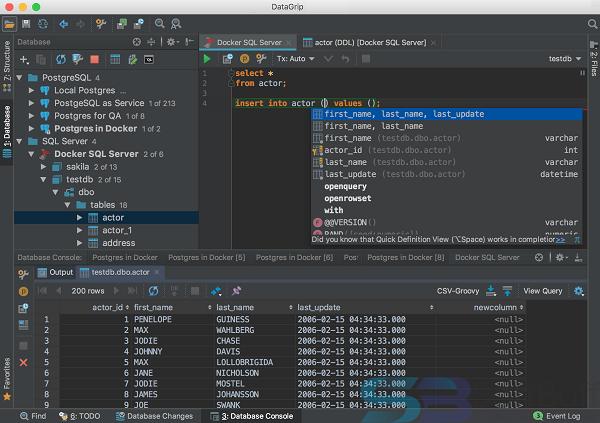 Free Download JetBrains DataGrip 2019 for Mac Offline