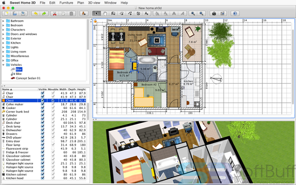 Free Download Sweet Home 3D 6.0 for Mac Direct