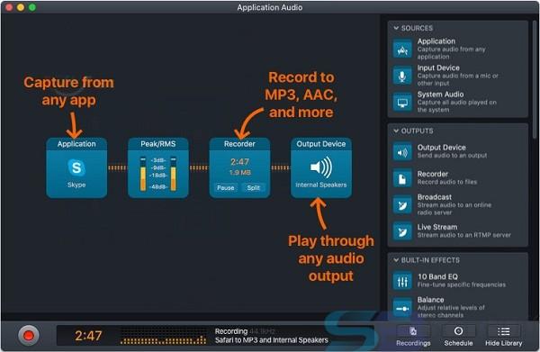 Audio Hijack 3.7.2 for Mac free download Offline Installer