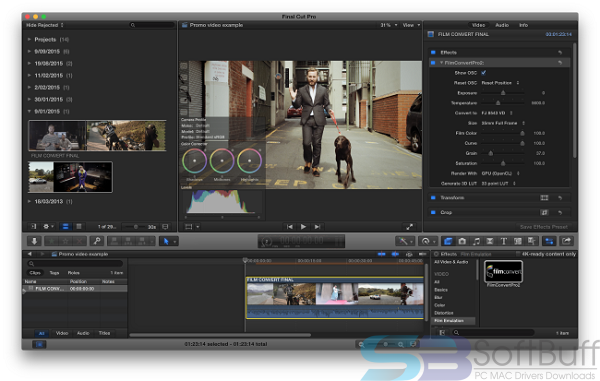 Free Download FilmConvert Pro 2.5 for Final Cut Pro for Mac Offline