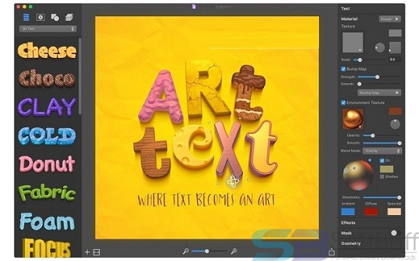 BeLight Art Text for Mac free download latest Version