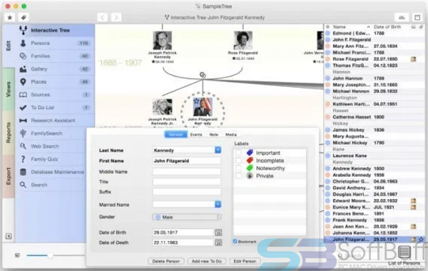 Free Download MacFamilyTree 9 Direct