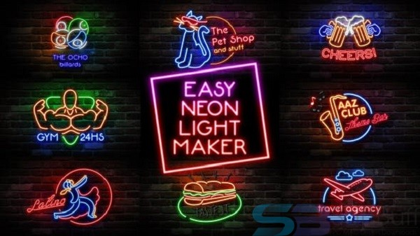 Download Videohive – Easy Neon Lights Maker for Mac Free