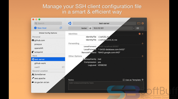 SSH Config Editor Pro 1.13.3 for mac free download