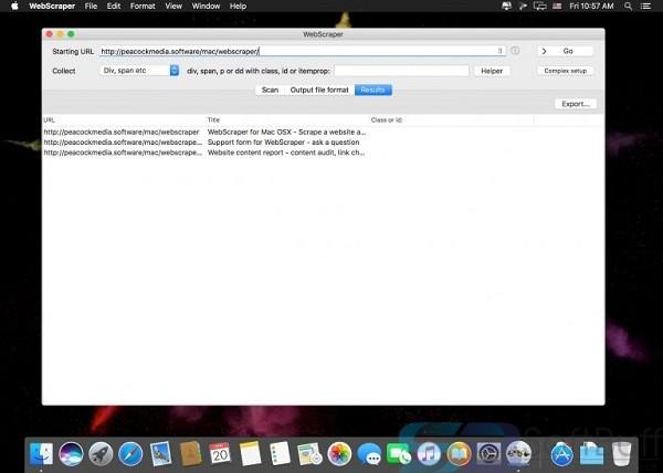 WebScraper 4.13.1 for Mac OS X Free Download