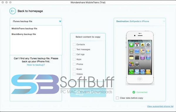 Download MobileTrans 6.9.8.20 for Mac free