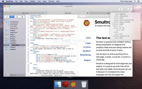 Smultron 12 for Mac free download