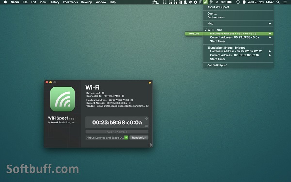 Download WiFiSpoof for macOS free