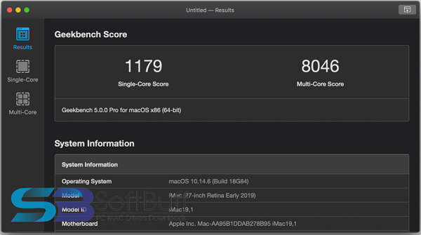 Geekbench Pro for macOS