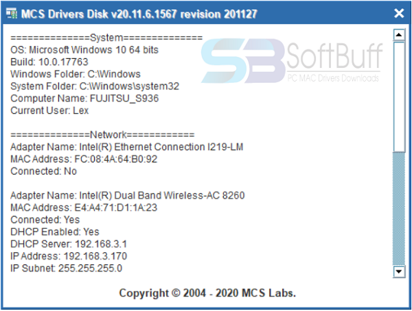 MCS Drivers Disk 2021 free download
