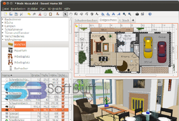 Sweet Home 3D for Windows free download