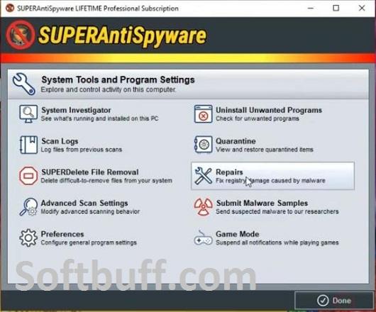 SUPERAntiSpyware Professional x 10 Portable Free Download