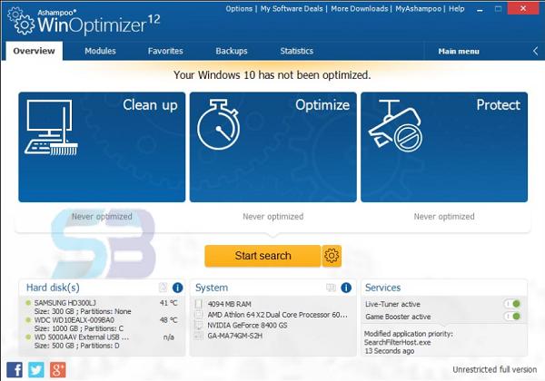 Download Ashampoo WinOptimizer 19 free