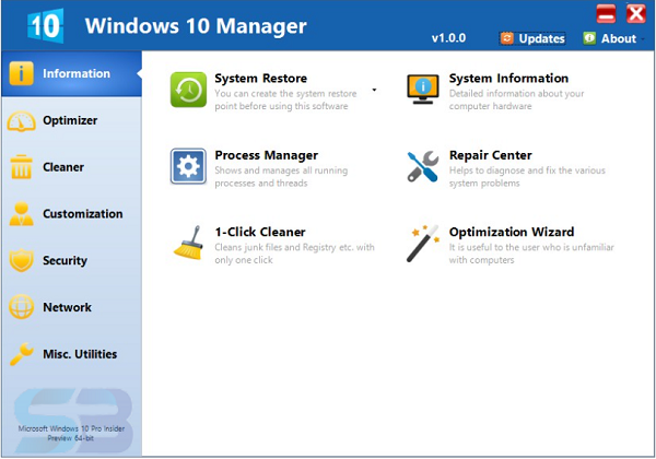 Download Windows 10 Manager Portable free