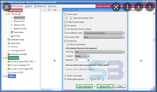 Download ByteScout PDF Multitool 12 free