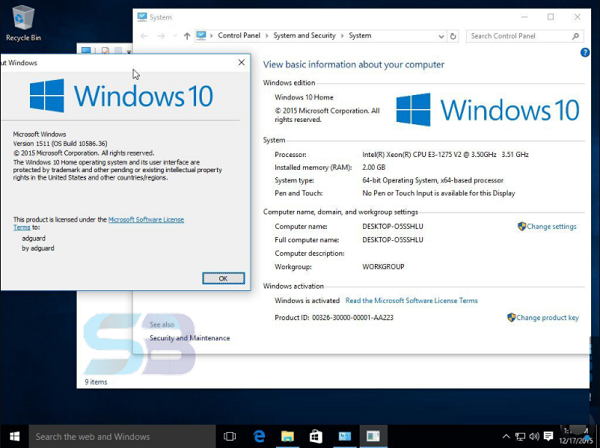 Download Windows 10 ISO File free
