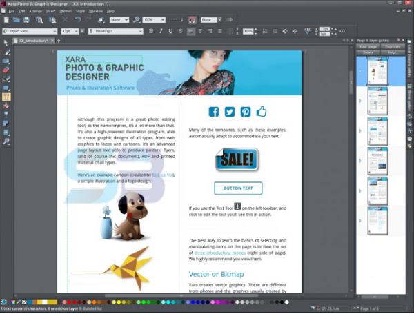 download Xara Photo & Graphic Designer 18 free