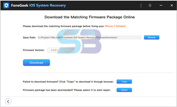 FoneGeek iOS System Recovery 2.0.0.1 for Windows free download