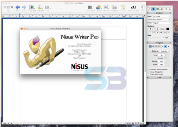 Download Nisus Writer Pro 3 for Mac free